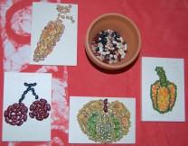 Mosaici con i legumi