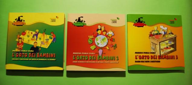 """Libro """"L'orto dei bambini"""", vol. 1, vol. 2, vol. 3"""