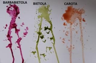 Colori naturali estratti dagli ortaggi