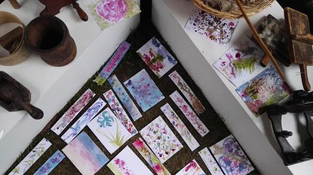 Laboratorio di pittura con i colori naturali