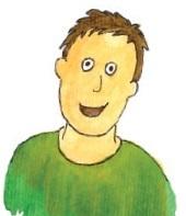 """Massimino, personaggio del libro """"L'orto dei bambini"""""""